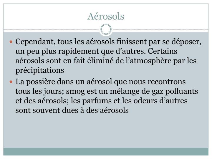 Aérosols