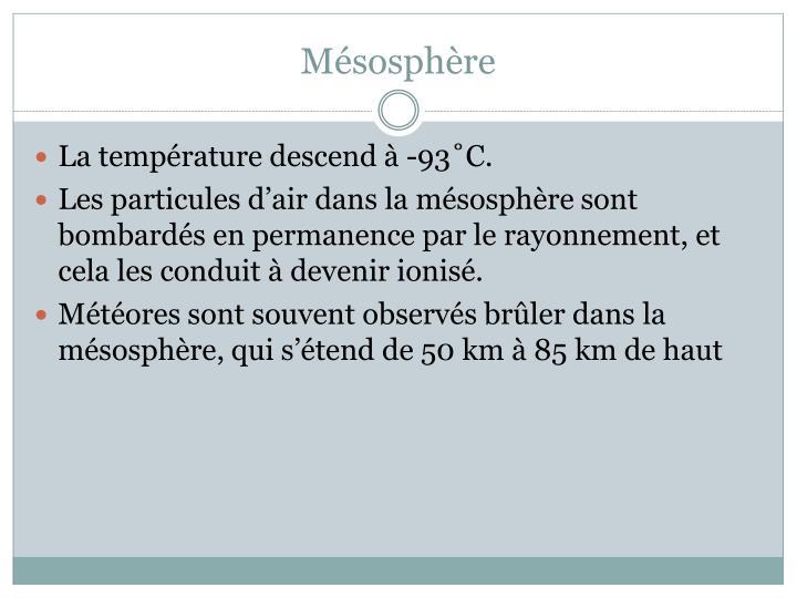 Mésosphère