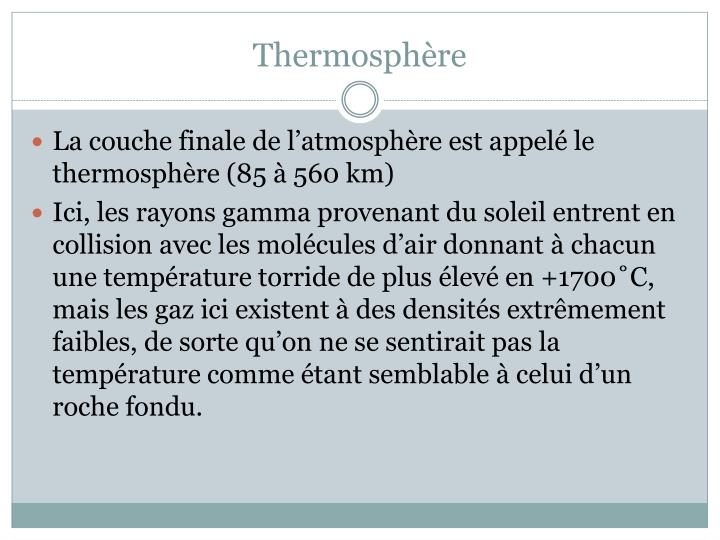 Thermosphère