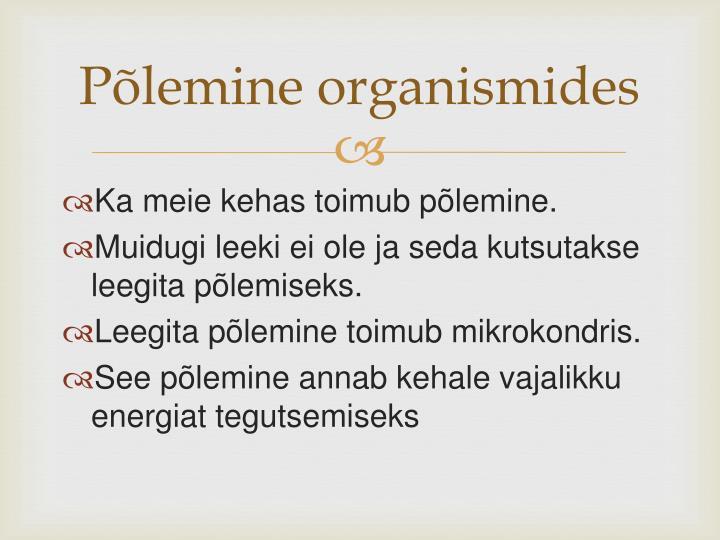 Põlemine organismides