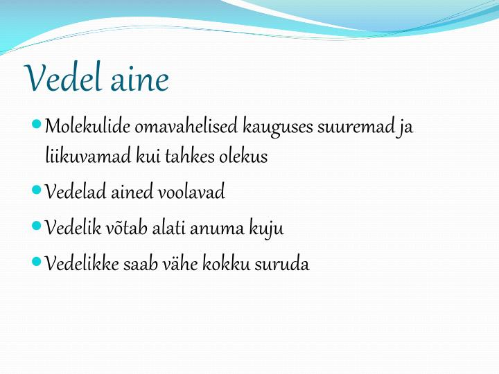 Vedel aine