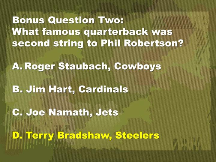 Bonus Question Two: