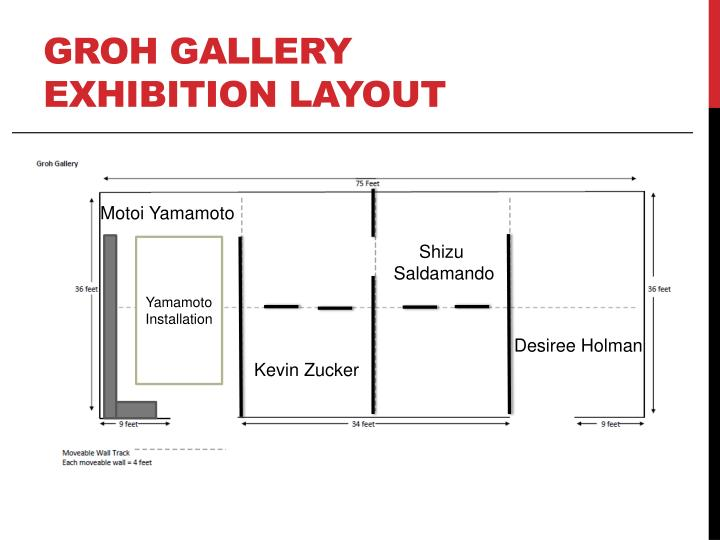 Groh Gallery Exhibition Layout