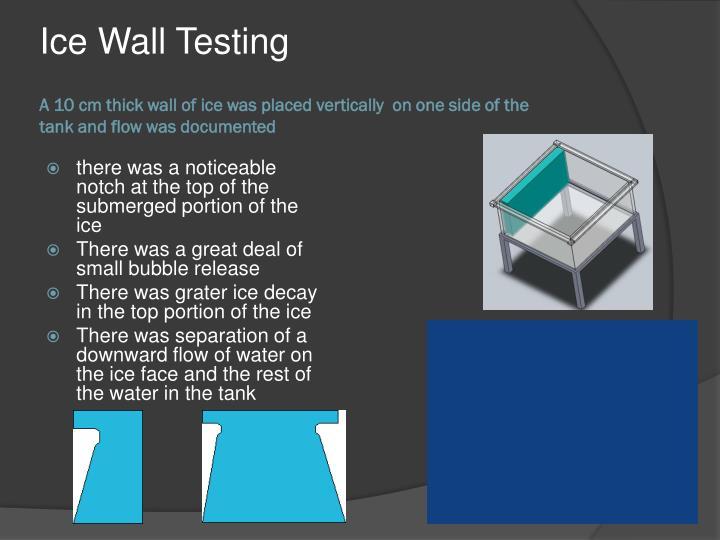 Ice Wall Testing