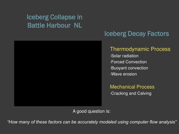 Iceberg decay factors