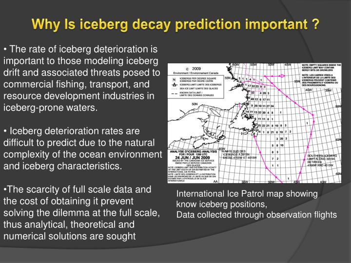 Why Is iceberg decay prediction important ?