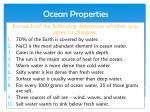 ocean properties1