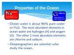 properties of the ocean