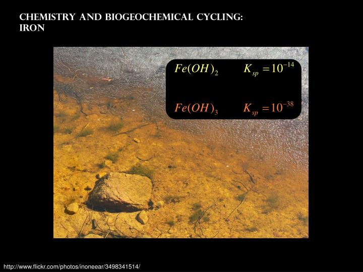 Chemistry and Biogeochemical Cycling