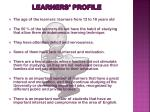 learners profile