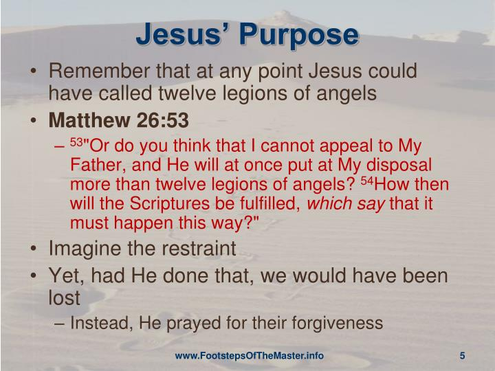 Jesus' Purpose