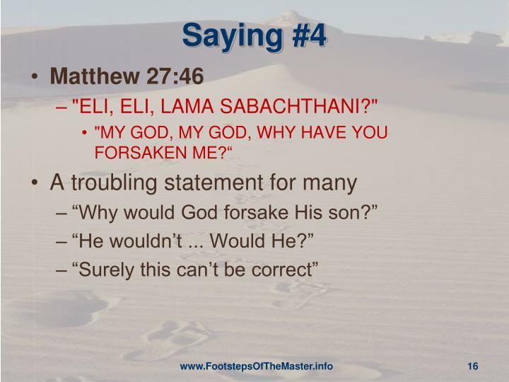 Saying #4