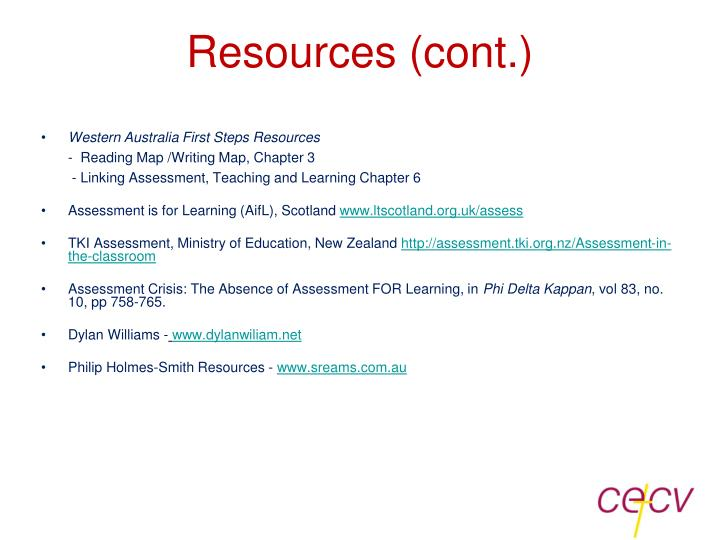 Resources (cont.)