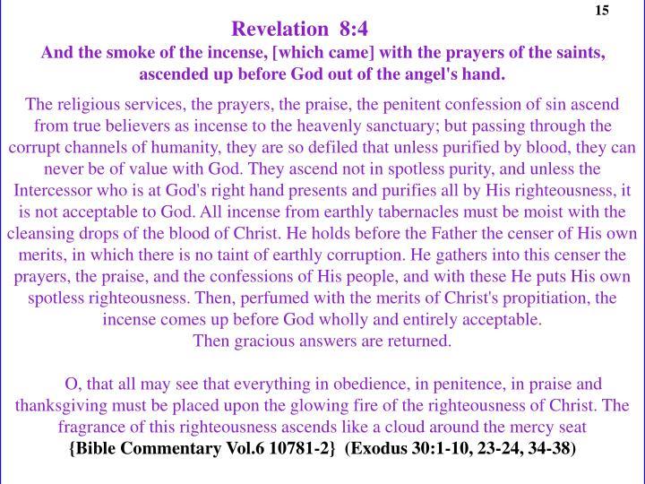 Revelation  8:4