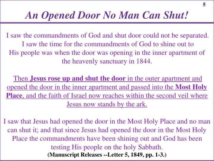 An Opened Door No Man Can Shut!
