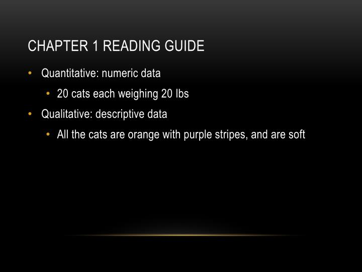 Chapter 1 reading guide