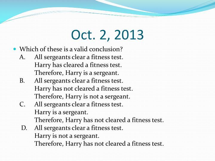 Oct. 2, 2013