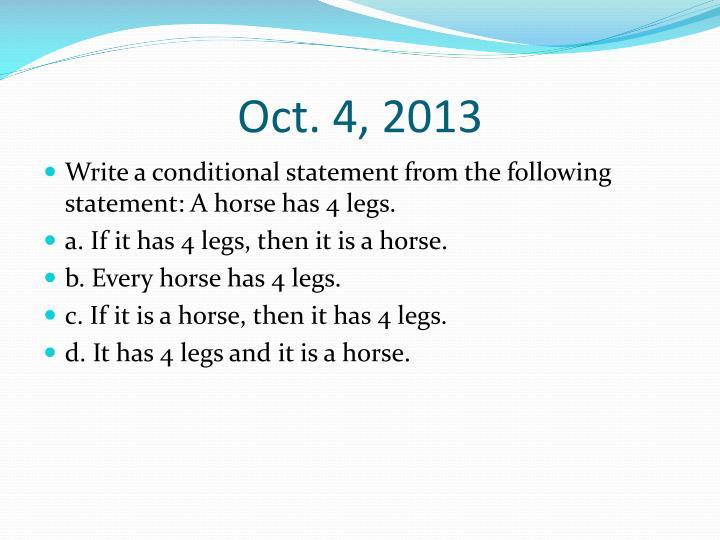 Oct. 4, 2013