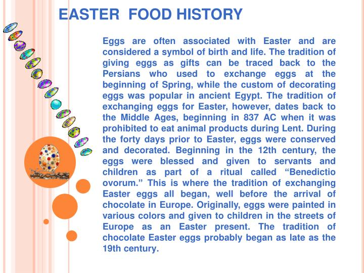 Easter food history