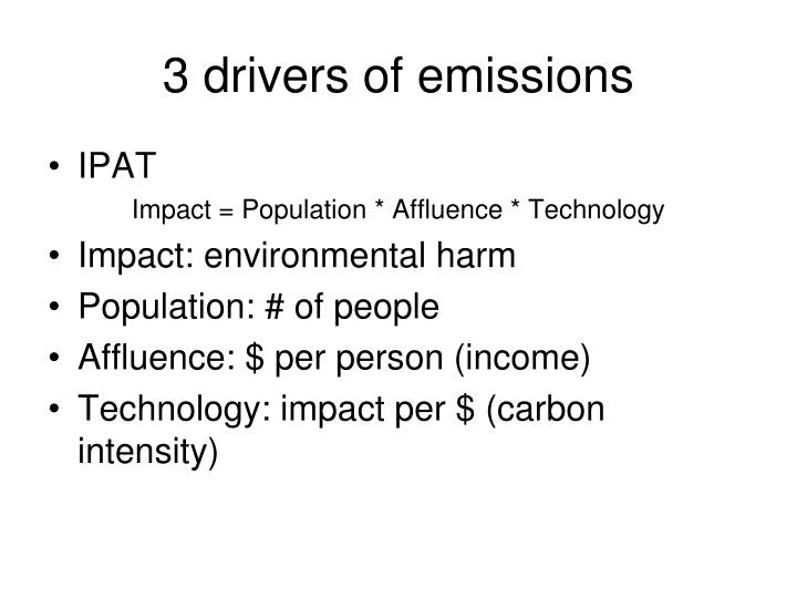 3 drivers of emissions
