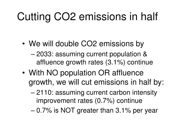 Cutting CO2 emissions in half
