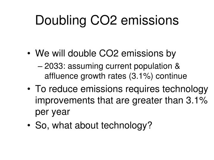 Doubling CO2 emissions