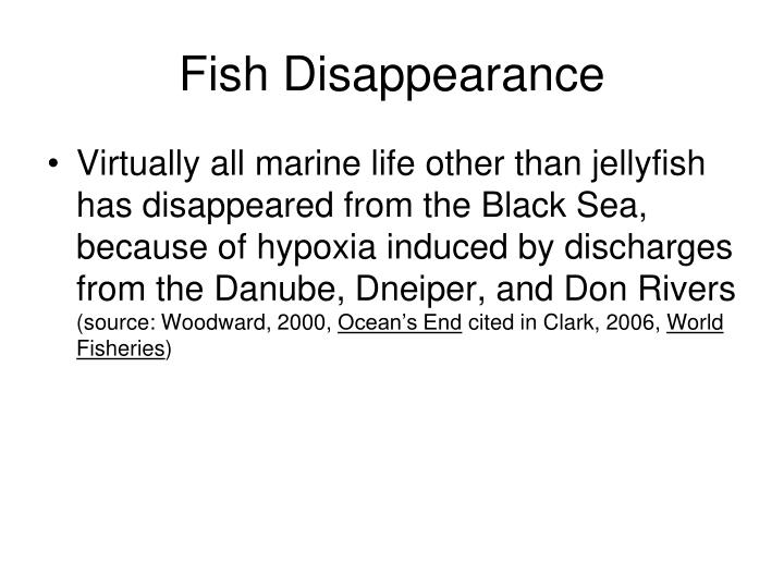 Fish Disappearance