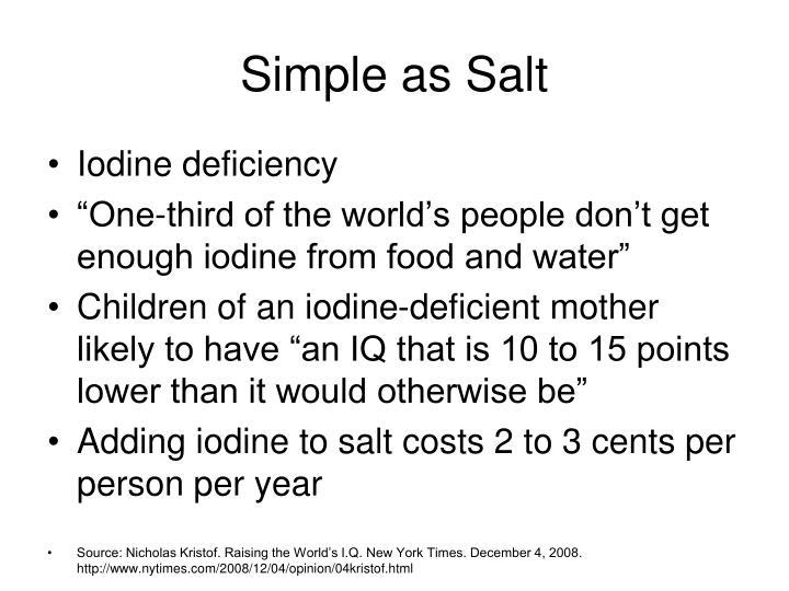 Simple as Salt