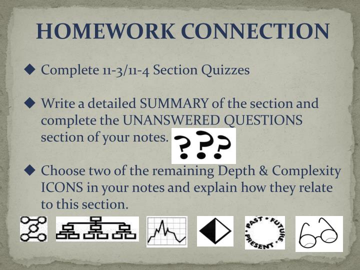 HOMEWORK CONNECTION