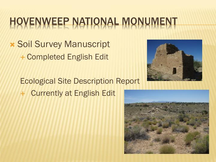 Soil Survey Manuscript