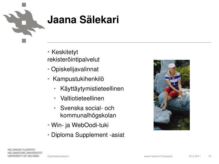 Jaana Sälekari
