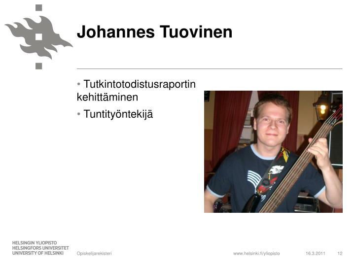 Johannes Tuovinen