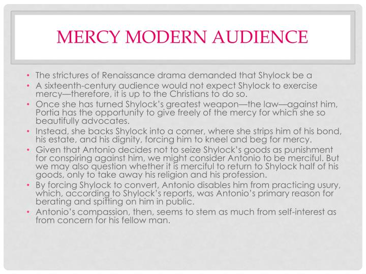Mercy modern audience