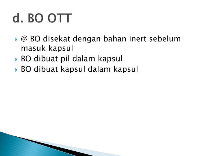 d. BO OTT