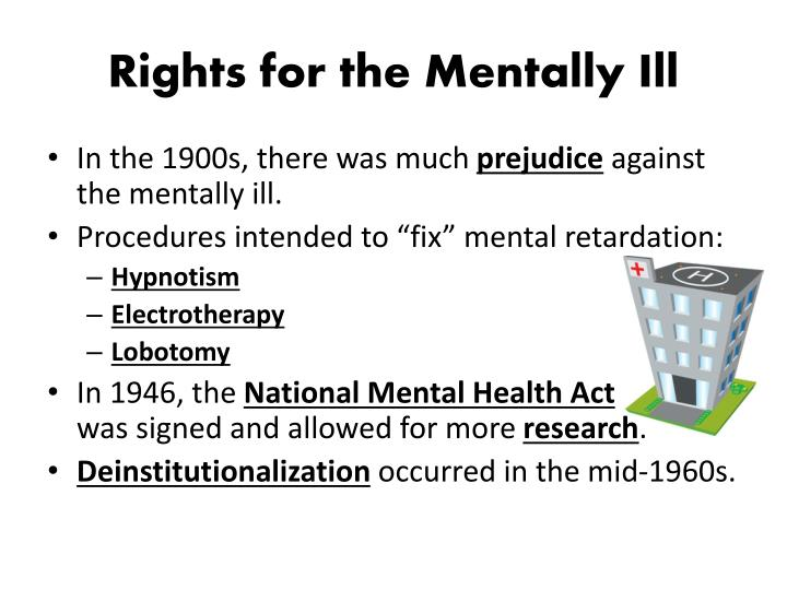 Rights for the Mentally Ill