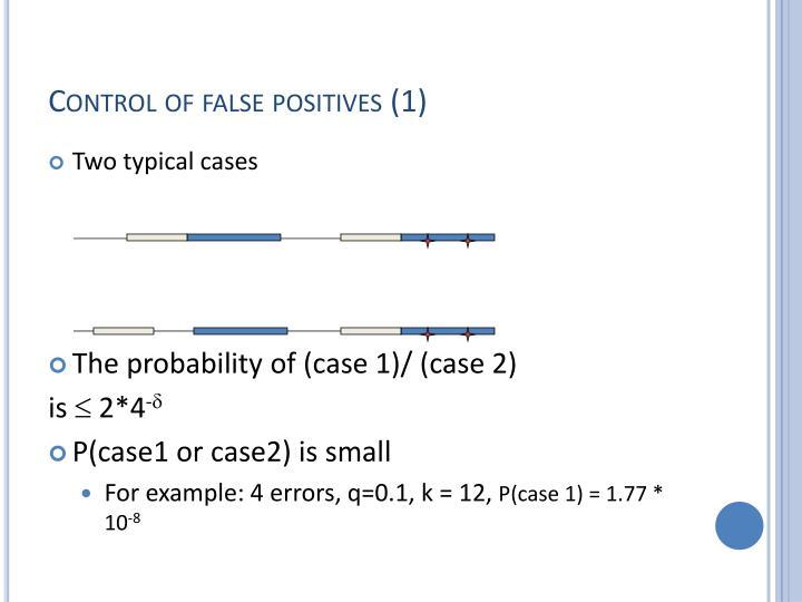Control of false positives (1)