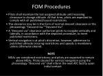 fom procedures