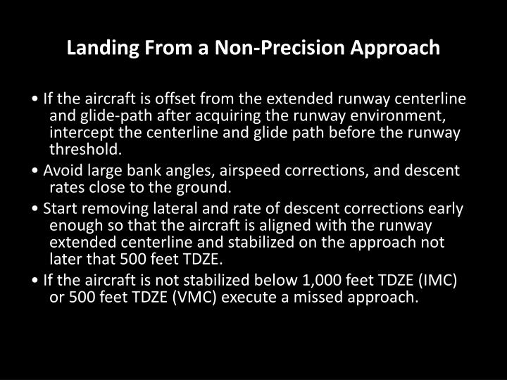 Landing From a Non-Precision Approach