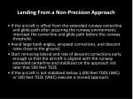 landing from a non precision approach
