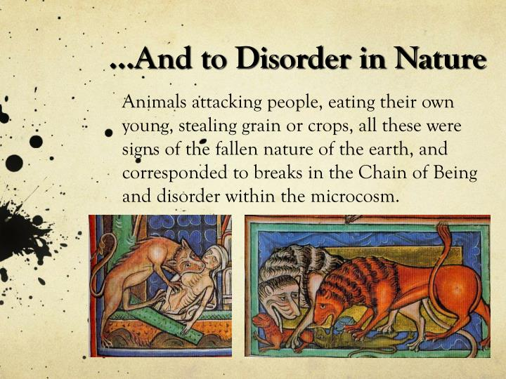 ...And to Disorder in Nature