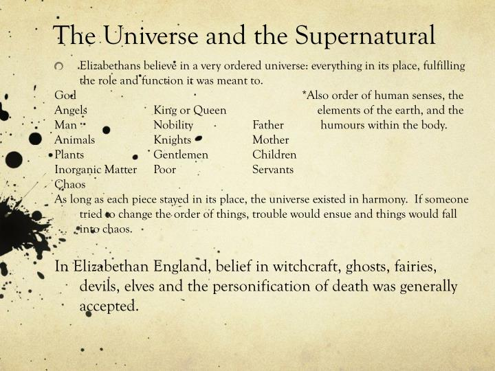 The Universe and the Supernatural