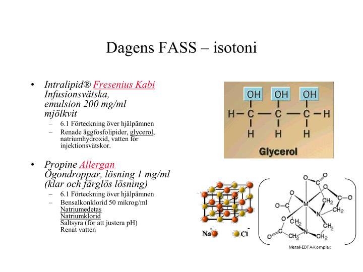 Dagens FASS – isotoni
