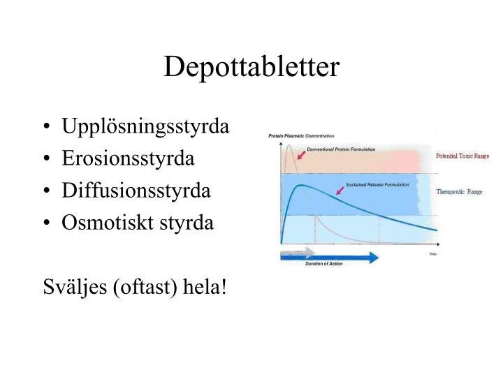 Depottabletter
