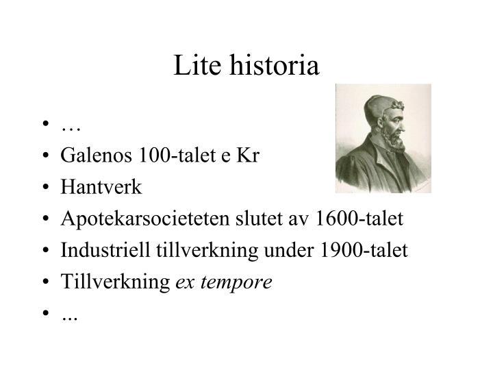 Lite historia