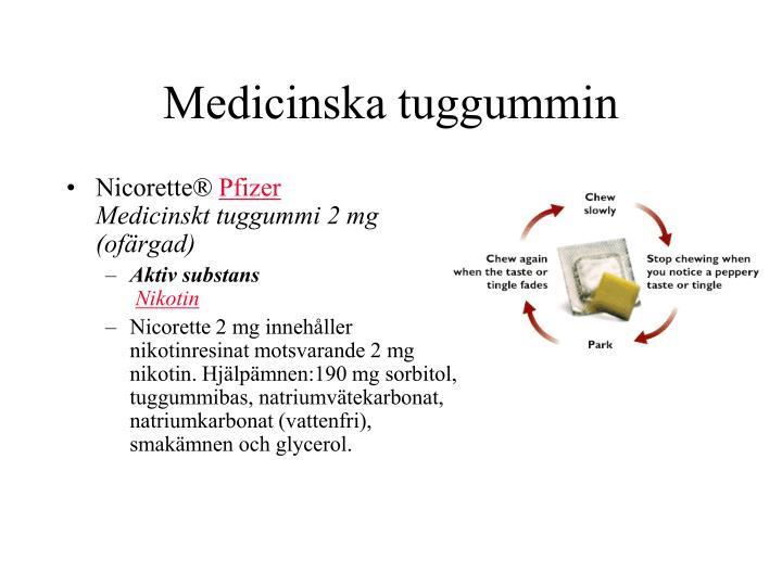 Medicinska tuggummin