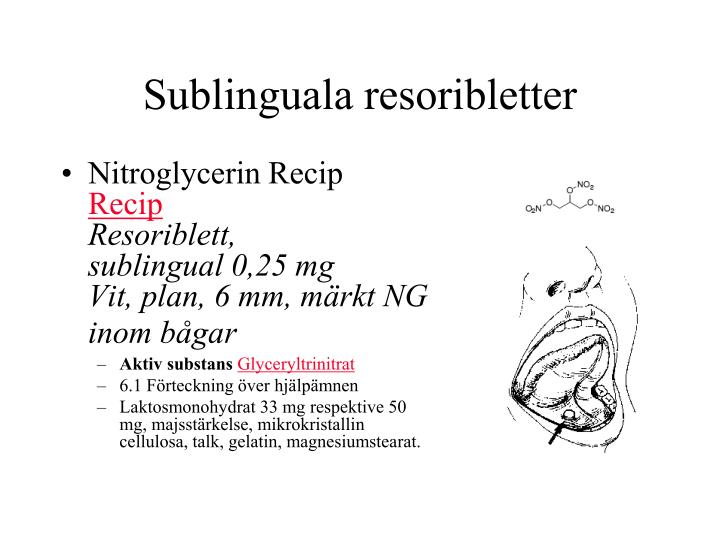 Sublinguala resoribletter