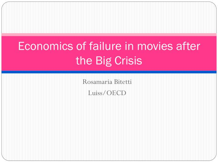 economics in film This new video series aims to change that, with 20 short films explaining  with  well-known actors, documentary filmmakers, and economists to.