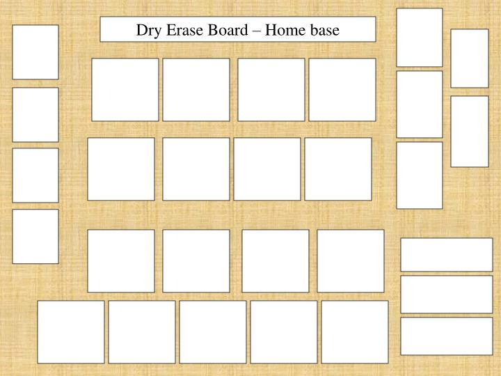 Dry Erase Board – Home base