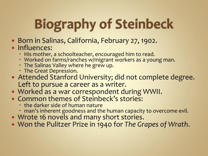 Biography of steinbeck