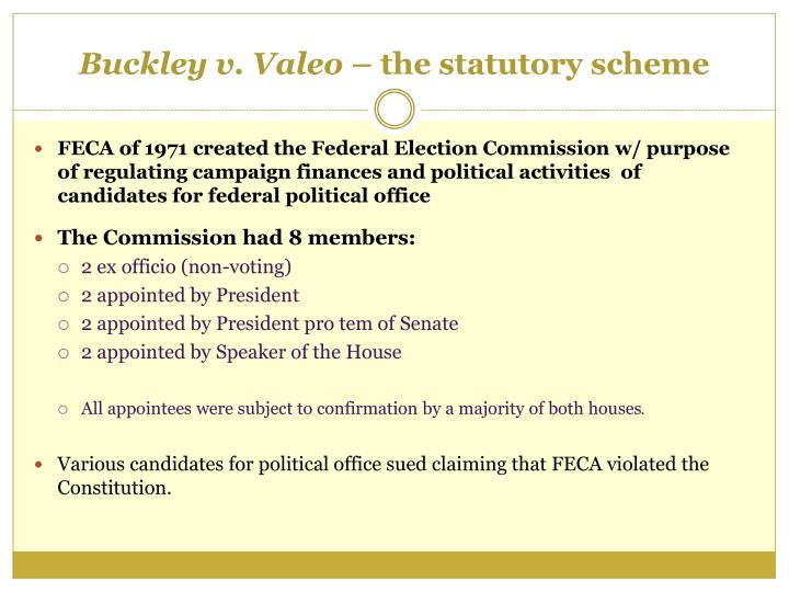 Buckley v. Valeo –